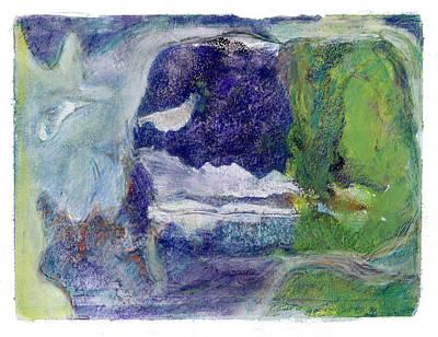 Mixed Media - Moonlight Mountain by Barbara Jacobs