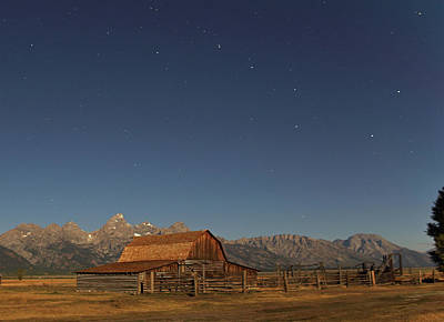 Photograph - Moonlight On A Mormon Barn by Jean Clark