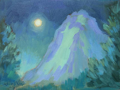 Painting - Moonlight On Lily Rock by Diane McClary