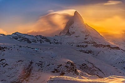 Photograph - Moonlight On Matterhorn by Brenda Jacobs