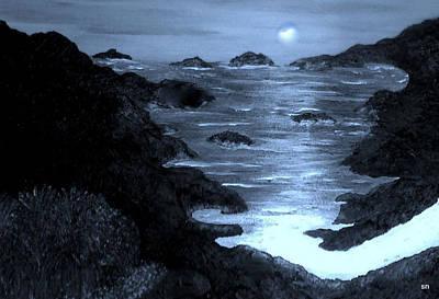 Moonlight On The Coast Art Print by Sherri's - Of Palm Springs