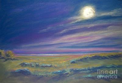 Moonlight On The Dunes Art Print by Addie Hocynec