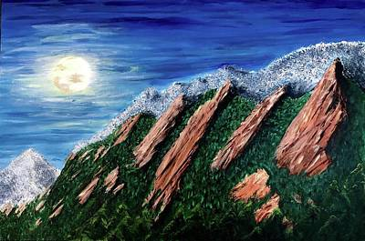 Moonlight On The Flat Irons Original by Laurie Shiparski Authier