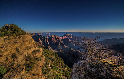 Photograph - Moonlight On The Grand Canyon by Michael Balen