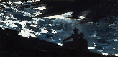 Winslow Homer Painting - Moonlight On The Water by Winslow Homer