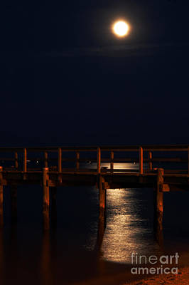 Photograph - Moonlight On Water by Clayton Bruster