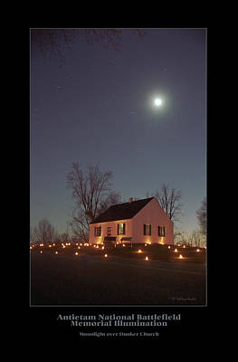 Moonlight Over Dunker Church 96 Art Print by Judi Quelland