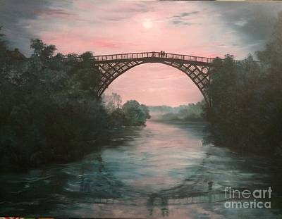 Painting - Moonlight Over Ironbridge by Jean Walker