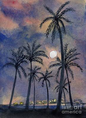Painting - Moonlight Over Key West by Randy Sprout