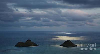 Moonlight Over Mokulua Islands Art Print by Charmian Vistaunet