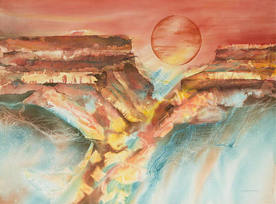 Painting - Moonlight Over The Grand Canyon by Tara Moorman