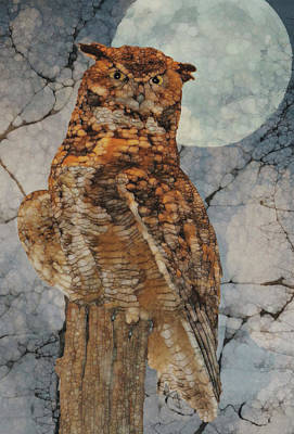 Cobwebs Painting - Moonlight Owl by Jack Zulli