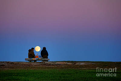 Photograph - Moonlight Picnic by Olivier Le Queinec