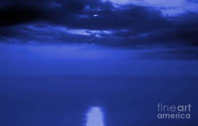 Photograph - Moonlight Reflecting In The Sea by Yali Shi