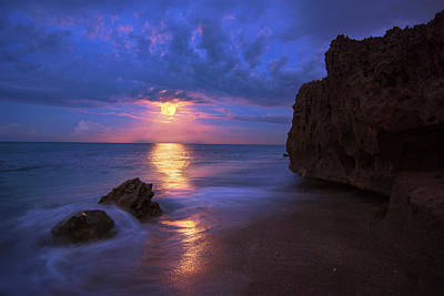Photograph - Moonlight Reflection by Justin Kelefas
