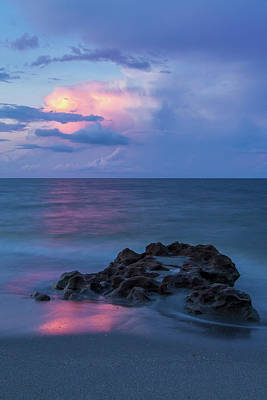 Photograph - Moonlight Reflection Over Ocean by Stefan Mazzola