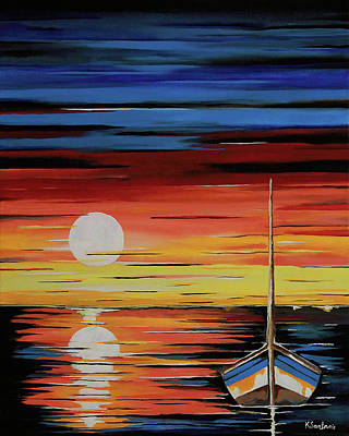 Painting - Moonlight Reflections by Kathleen Sartoris