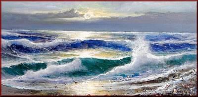 Het Painting - Moonlight by Rino Aldini
