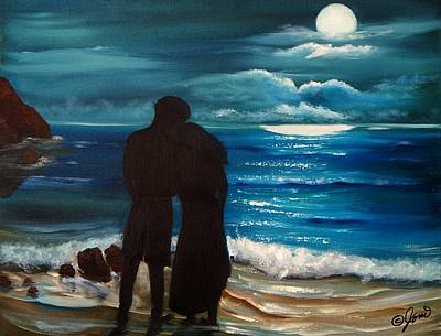 Painting - Moonlight Romance by Joni McPherson