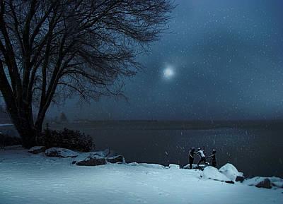 Playful Digital Art - Moonlight Romp by John Poon