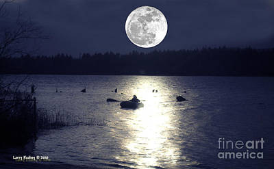 Moonlight Row Art Print