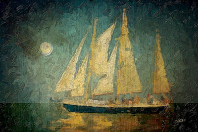 Moonlight Sail Art Print by Michael Petrizzo