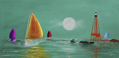 Moonlight Sailnata Original by Ken Figurski