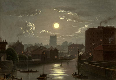 Moonshine Painting - Moonlight Scene by W Crambrook
