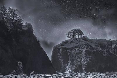 Olympic National Park Digital Art - Moonlight  Serenade by Marci Potts