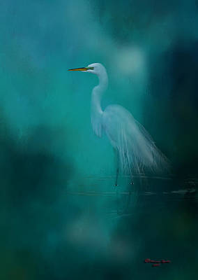 Heron Photograph - Moonlight Serenade by Marvin Spates