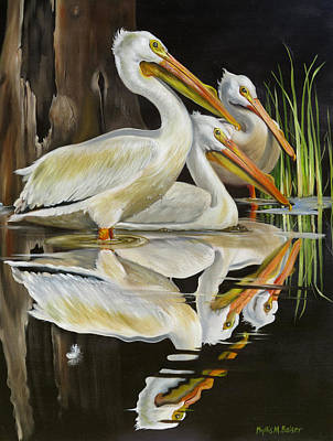 Waterfowl Painting - Moonlight Serenade by Phyllis Beiser