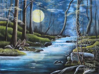 Painting - Moonlight Serenade by RJ McNall