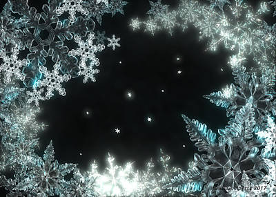 Artwork Digital Art - Moonlight Snow Burial by Jules Gompertz