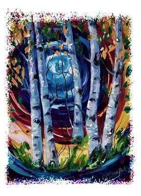 Digital Art - Moonlight Sonata by OLena Art Brand