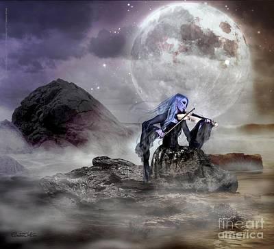 Elisabetta Artusi Painting - Moonlight Sonata by Betta Artusi