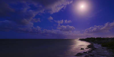 Night Moon Photograph - Moonlight Sonata by Chad Dutson