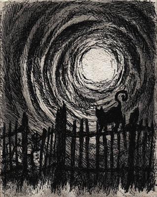 Moonlight Sonata Drawing - Moonlight Sonata by Rachel Christine Nowicki