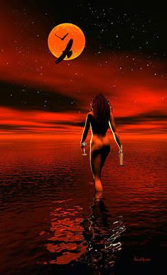 Photograph - Moonlight Stroll by Ericamaxine Price