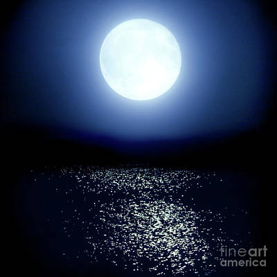 Art Print featuring the photograph Moonlight by Tatsuya Atarashi