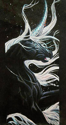 Horse Necklace Painting - Moonlight by Tiffany Hughs