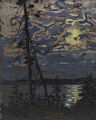 Painting - Moonlight by Tom Thomson