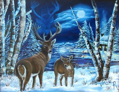 Moonlight Walk Art Print by Darlene Green