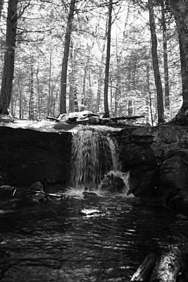 Moonlight Waterfall Art Print
