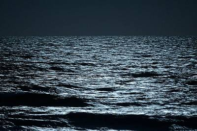 Photograph - Moonlight Waves by Nancy Landry