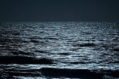 Photograph - Moonlight Waves by Nancy Landry