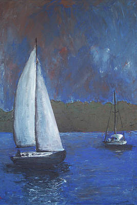 Painting - Moonlighting by Charlotte DeMolay