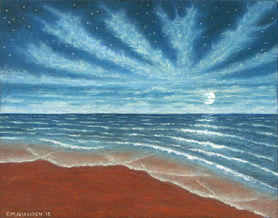 Pastel - Moonlit Beach by Michael Heikkinen