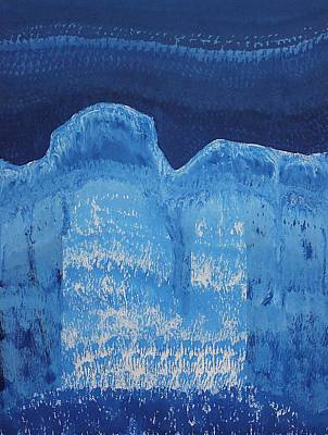 Painting - Moonlit Canyon Original Painting by Sol Luckman