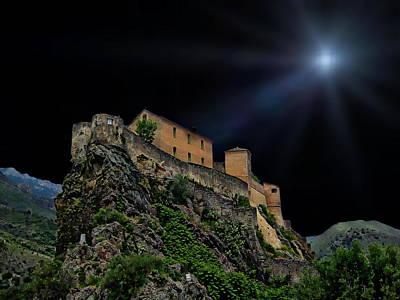 Bicycle Patents - Moonlit Castle by Anthony Dezenzio