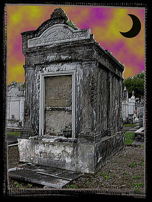 Moonlit Cemetary Art Print by Linda Kish